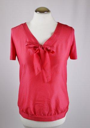 Materialmix Tunika Bluse Schluppenbluse MEXX Größe S 36 Pink Rosa Tunikabluse Viskose Seide Baumwolle