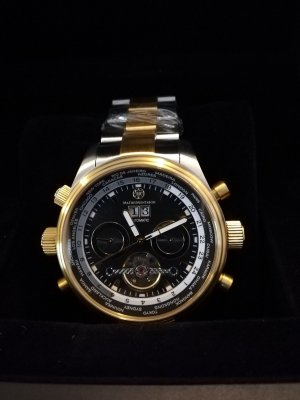 Mathis Montabon Self-Winding Watch silver-colored-gold-colored