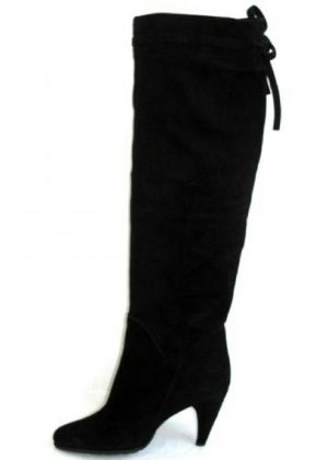 Wide Calf Boots black leather