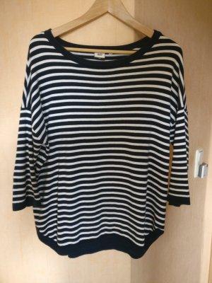 Object Sweter oversize biały-niebieski