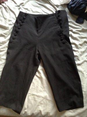 Pantalon 3/4 noir coton