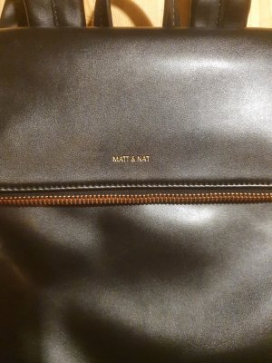 Matt & Nat Sac à dos pour ordinateur portable noir-or rose