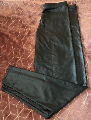 Matte Leder leggings (Neu)