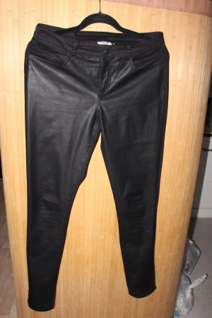 Only Pantalone in pelle nero Cotone
