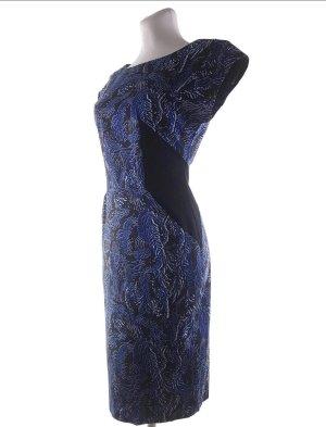 Matthew Williamson EtuiKleid dunkelblau weiß schwarz