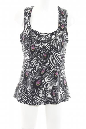 Matthew Williamson for H&M Blouse topje zwart-wit abstract patroon