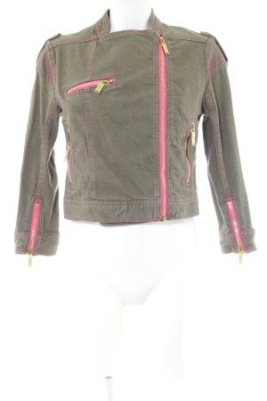 Matthew Williamson for H&M Jeansjacke pink-khaki Casual-Look