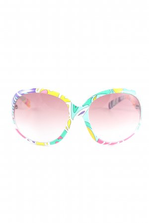 Matthew Williamson for H&M Oval Sunglasses color gradient casual look