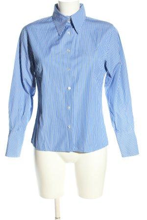 Mattina Langarm-Bluse blau-weiß Streifenmuster Business-Look