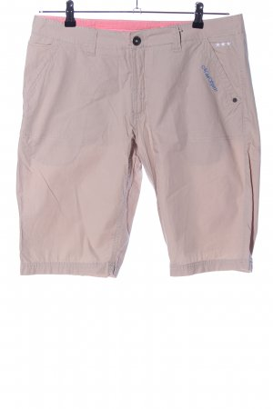 MAUI sports Bermuda crema letras bordadas look casual