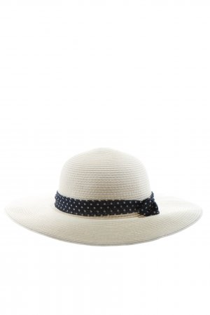 MAUI sports Chapeau à larges bords blanc-noir motif de tache