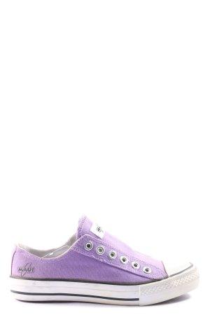 MAUI sports Schlüpfsneaker lila-weiß Motivdruck Casual-Look