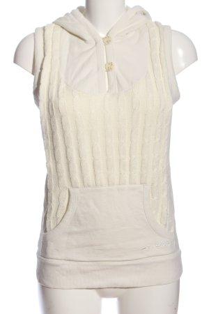 Maui Wowie Koszulka z kapturem kremowy Warkoczowy wzór W stylu casual