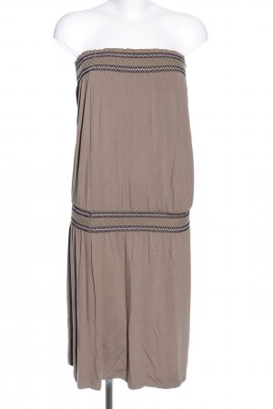 Maui Wowie Bandeau Dress brown graphic pattern casual look