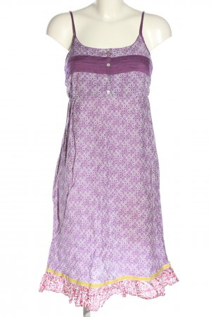 Maui Wowie Trägerkleid lila-weiß Allover-Druck Casual-Look