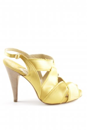 High Heel Sandaletten blassgelb Casual-Look
