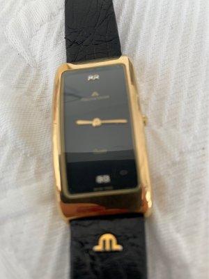 Maurice Lacroix Montre avec bracelet en cuir noir-doré