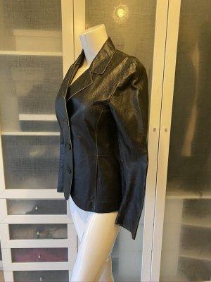 Mauritius Leather Blazer black leather