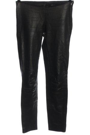 Mauritius Pantalone in pelle nero stile casual