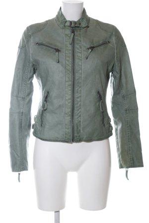 Mauritius Faux Leather Jacket khaki casual look