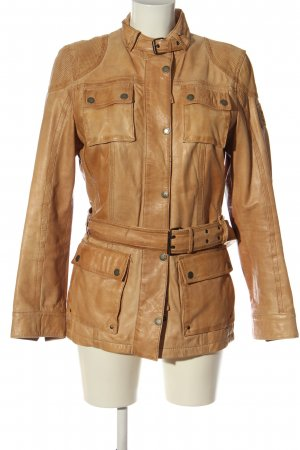 Mauritius Faux Leather Jacket brown casual look