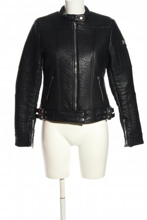 Mauritius Faux Leather Jacket black casual look