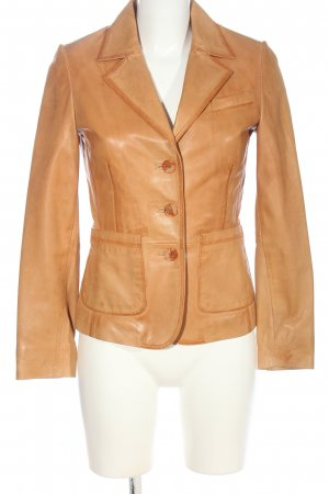 Mauritius Leather Blazer brown casual look