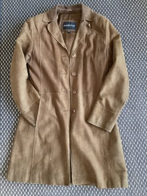 Mauritius Leather Coat cognac-coloured-light brown