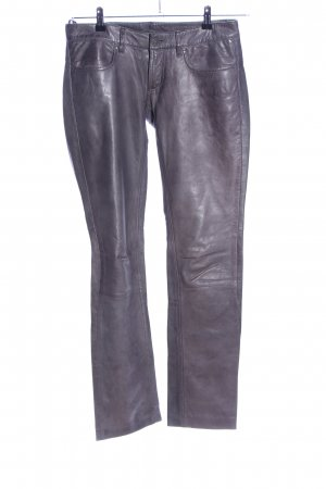 Mauritius Leather Trousers light grey casual look