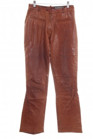 Mauritius Leather Trousers brown extravagant style