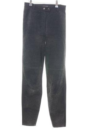 Mauritius Pantalón de cuero negro estilo extravagante