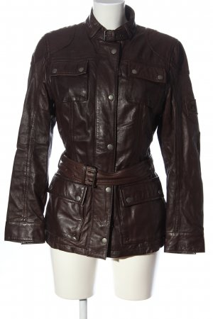 Mauritius Leather Jacket brown casual look