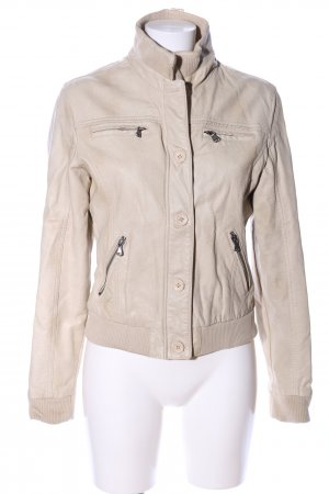 Mauritius Faux Leather Jacket natural white casual look