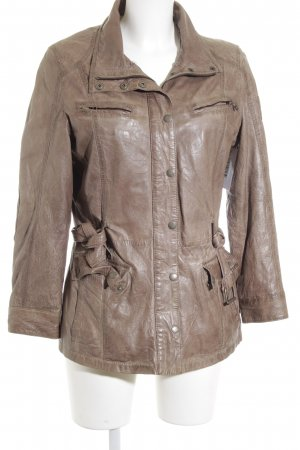 Mauritius Leather Jacket light brown casual look