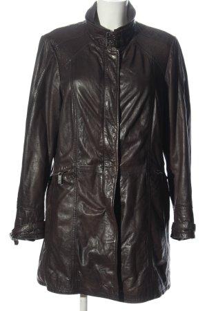 Mauritius Skórzany płaszcz brązowy W stylu casual