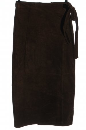 Mauritius Leather Skirt brown casual look