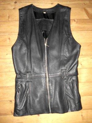 Mauritius Lederweste XL schwarz figurbetont elegant sportlich