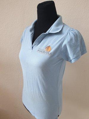 B&C collection Polo bleu azur coton