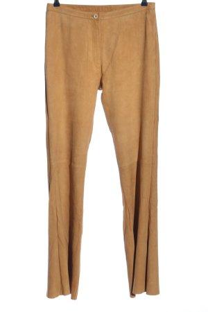 Mauritius Pantalón de cuero marrón look casual