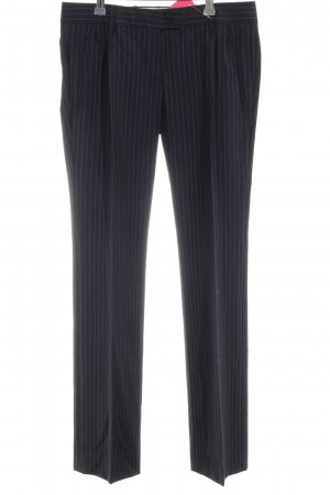 Mauro Grifoni Anzughose schwarz-hellgrau Streifenmuster Business-Look
