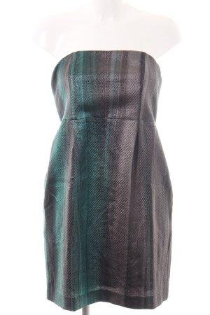 Mauro Grifoni Bustierkleid bronzefarben-türkis Farbverlauf Elegant