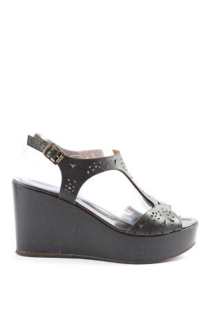 MAURY Wedges Sandaletten schwarz Casual-Look