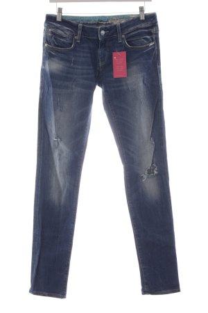 Mavi Bikerjeans graublau Jeans-Optik