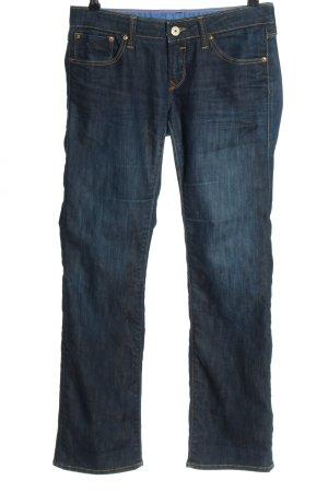 Mavi Boot Cut Jeans blau Casual-Look