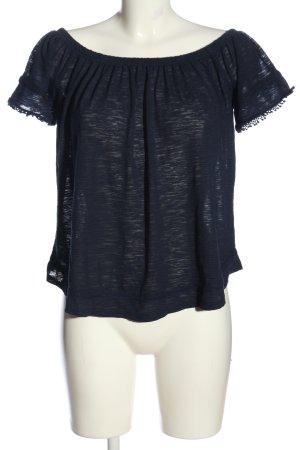 Mavi Carmen blouse blauw gestippeld casual uitstraling