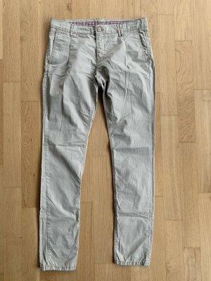 Mavi Pantalon chinos beige clair coton