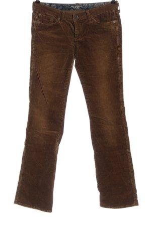 Mavi Pantalone di velluto a coste marrone stile casual