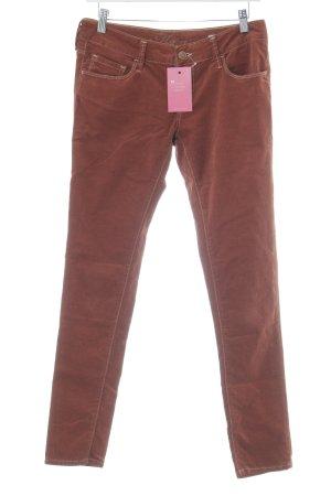 "Mavi Pantalon en velours côtelé ""Serena"" brun"
