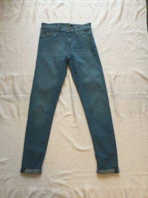 Mavi Gold Jeans, neu, blau, Gr. W24, L32, lexy Mid rise super skinny