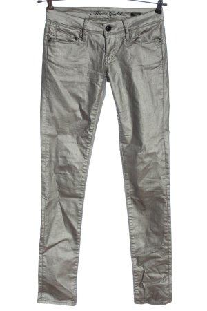 mavi gold Pantalón de tubo color plata elegante